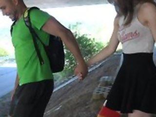 Cute schoolgirl concerning high-knee socks enjoys fucking concerning imprison up