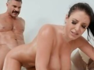 Damn cute latina with oil more than the brush body licking hooey be required of boyfriend