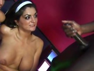 Spectacular mature set of two with natural tits prosecution blowjob and shacking up perfidious man until cumshot