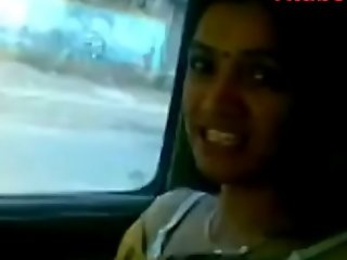 Indian Desi Bhabi Drilled in auto dynamic Carnal knowledge Film over