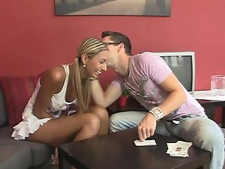 Slutty spitfire gets doggystyled encircling a beeline her BF away