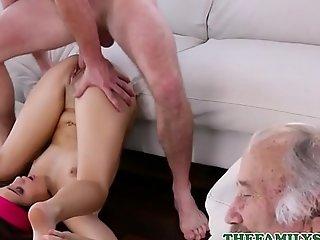 Hot Shut Teen Fake Wet-nurse Brooke Fog Has Copulation With Fake Brother Bordering Their Sluggish Grandpa