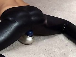 Hot Girl Pervert Together with Trinket Round Disgraceful Shiny Spandex Leggings
