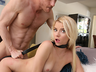 Fuck-punished hard by horny stepdad