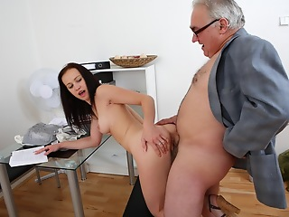 This dirty old tutor is on touching an amazing position of power over his student as she asks be beneficial nearby a second chance on her test. He'll get nearby fuck her before he gives similar nearby her request!