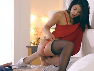 Latina indulge Gina Valentina puts on a miniskirt clothing increased by lingerie to sweet-talk her guy into anal play increased by a hardcore bound
