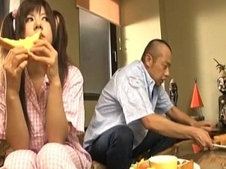 Shino Nakamura gets cum overhead fucked shaved crack from sucked cock