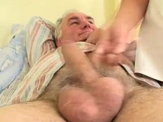 Naughty Hot Nurse Helps Old Holder To Get Laid