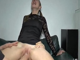 Teen girl mimic fist and cock penetration