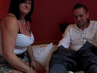 George and his friend'_s mom taboo session - footjob handjob