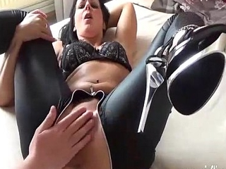 Brunette milf pink fucked in her greedy pussy