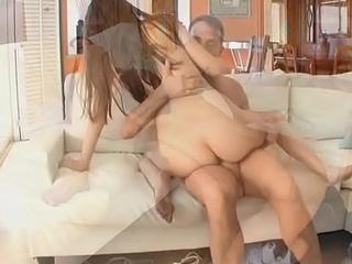 Elektra down on her knees slobbing cock