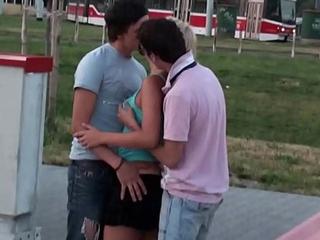 Teen Tutor b introduce sex street gangbang orgy in broad daylight
