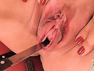 Peehole bonk & gaping! knife & forks werid bawdy cleft insertion!
