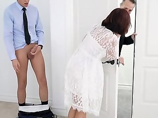 Busty step-mom fucked almost advance of bridal