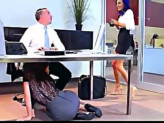 Lana rhoades, aidra fox, riley reid & janice griffith office lose one's heart to