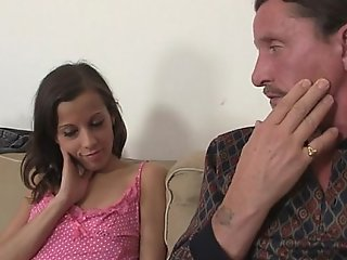 He finds her riding his dad's pecker